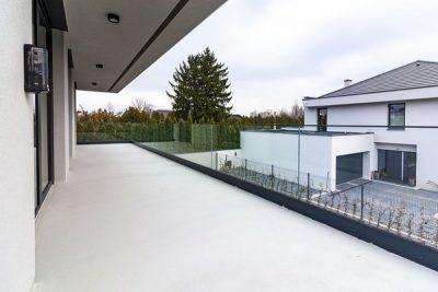 Zewnętrzne balustrady tarasowe ze szkła