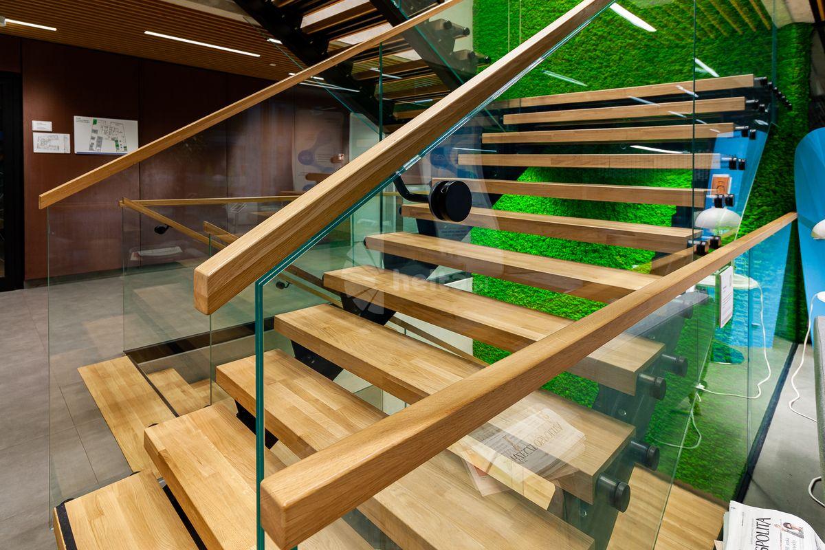 Drewnianych pochwyt do szkła konstrukcyjnego